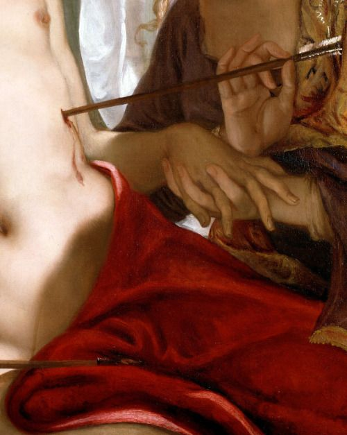 Antonio Bellucci, Detail of St. Sebastian, ca. 1716-18
