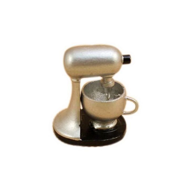 1 Pcs Silver Lovely Family Kitchen Modern Blender 1:12 Dollhouse Miniature Accessories