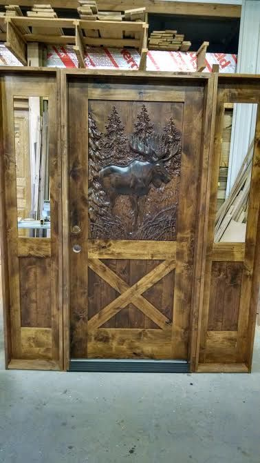 17 Best Images About Carved Wood Door Moose On Pinterest