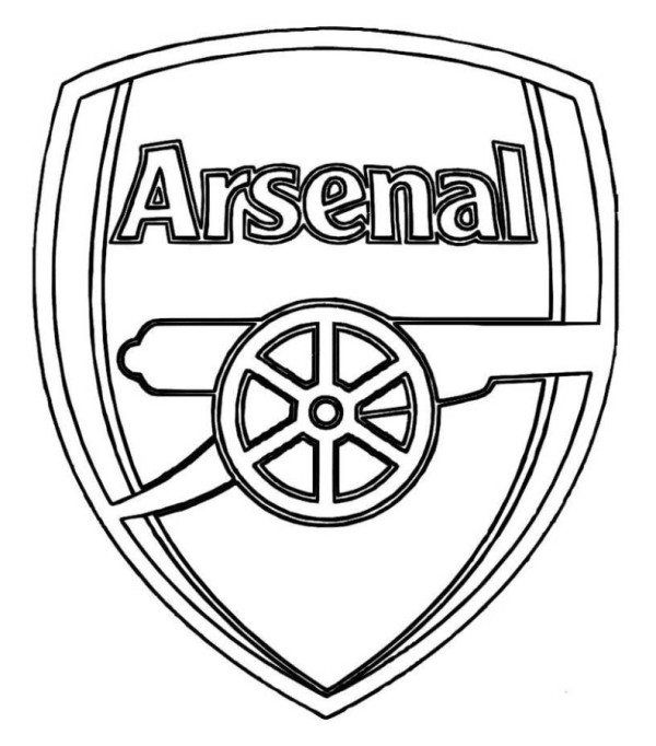arsenal logo soccer coloring pages