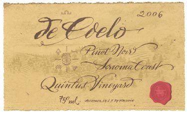 Benziger de Coelo 'Quintus' Pinot Noir