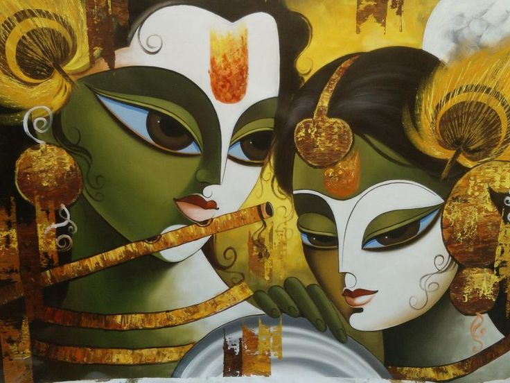 krishna radha painting - beautiful!