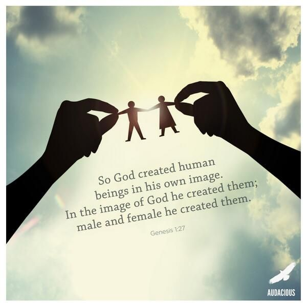 god created human beings to have Secondly, the creation accounts in genesis make it clear that man is not   human beings, created in the image of god, are persons called to.