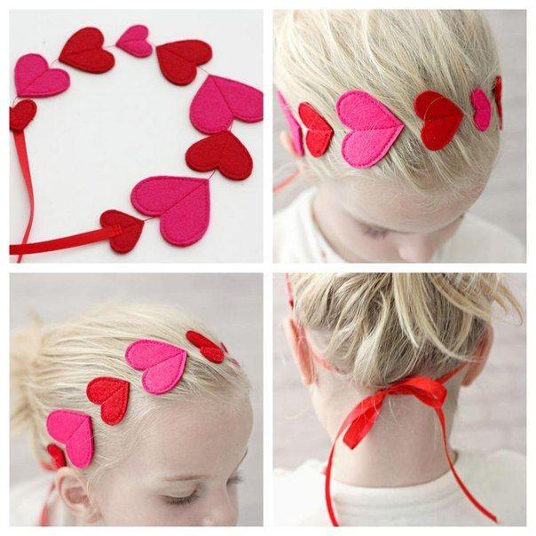 Красивый аксессуар для девочек ко Дню Святого Валентина