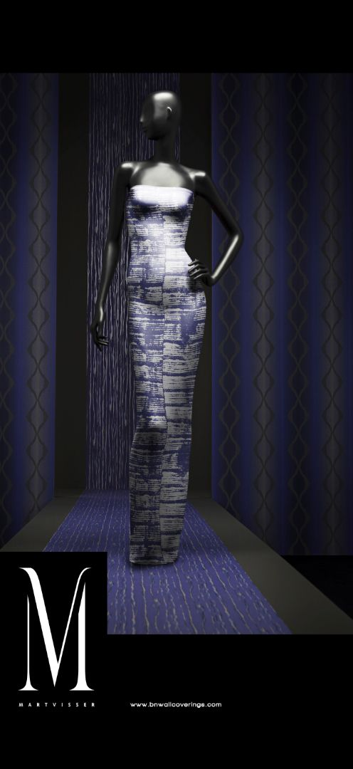 Banner Behang Mart Visser paars - BN Wallcoverings