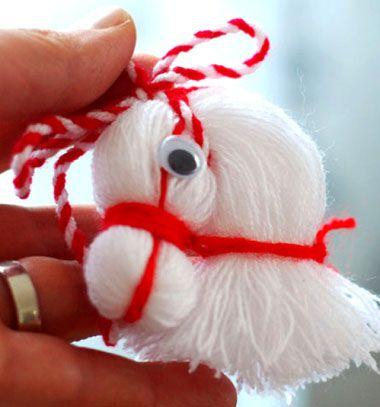Cute horse head from thread / Lovacska fejes karácsonyfadísz / Mindy - craft tutorial collection