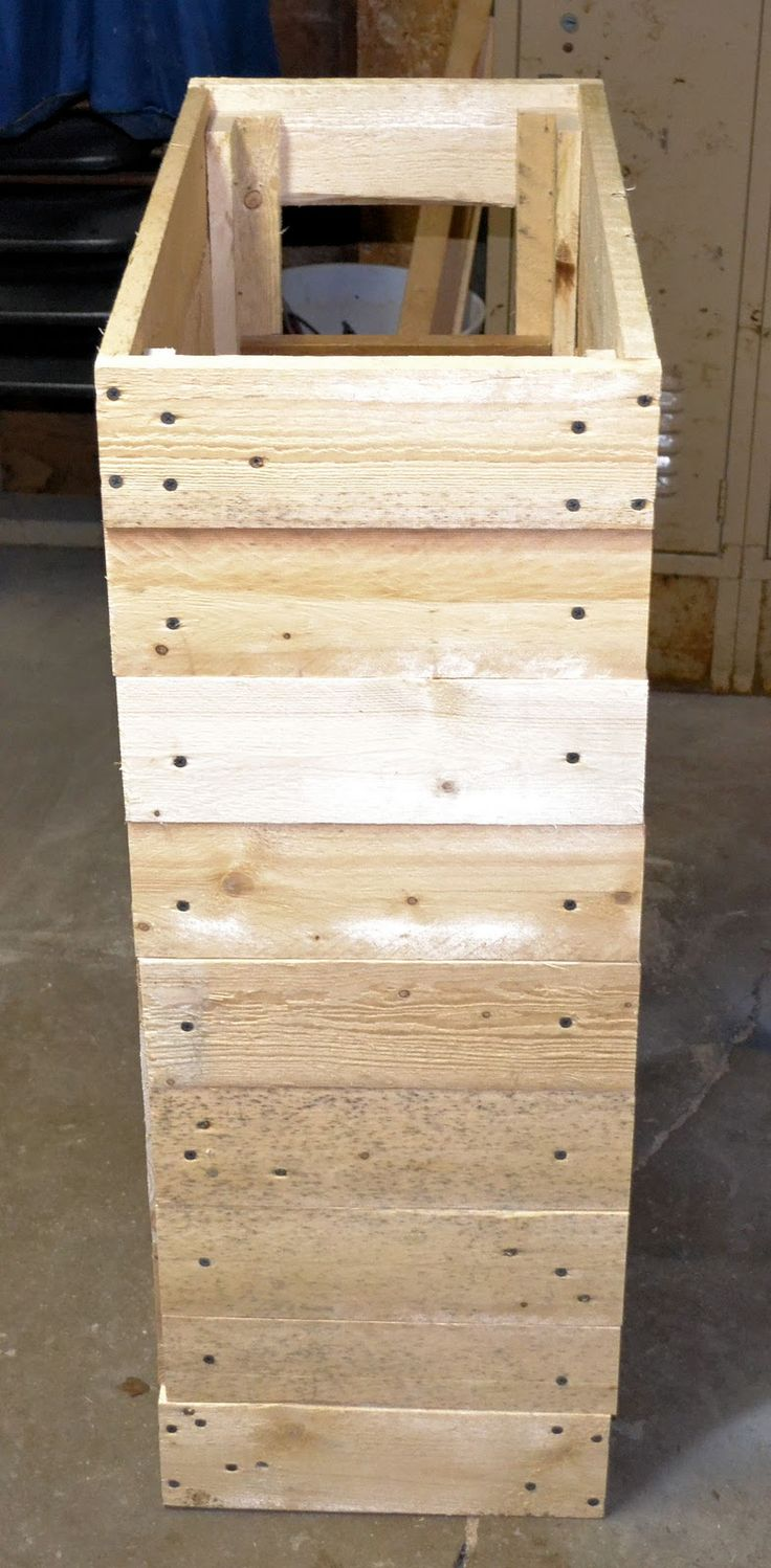 Wooden transport pallets have become increasingly popular for diy - How To Make A Rustic Pallet Cabinet