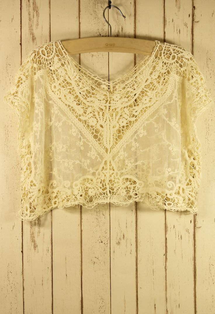 Lace Crochet Smock - Back in stock - Retro, Indie and Unique Fashion