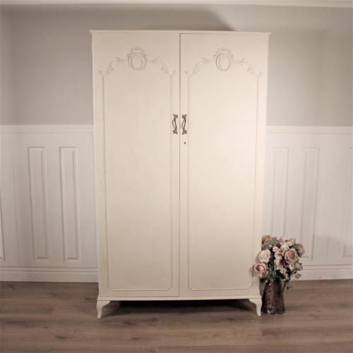 Shabby chic wardrobe armoire linen press #bedroom #french #louis triple double pi,  View more on the LINK: 	http://www.zeppy.io/product/gb/2/361886928129/