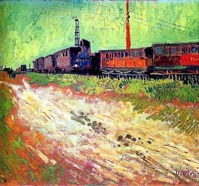 Vincent Van Gogh - Wagons de chemin de fer, août 1888.