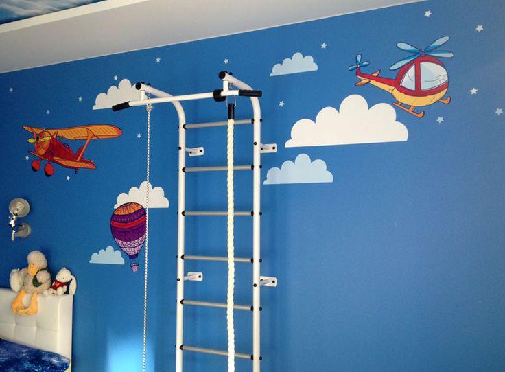 оформление комнаты мальчика самолетиками