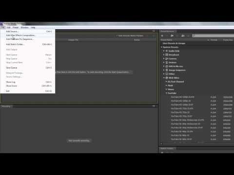 ▶ AE Basics 59: Export 5 - Media Encoder ONE - YouTube