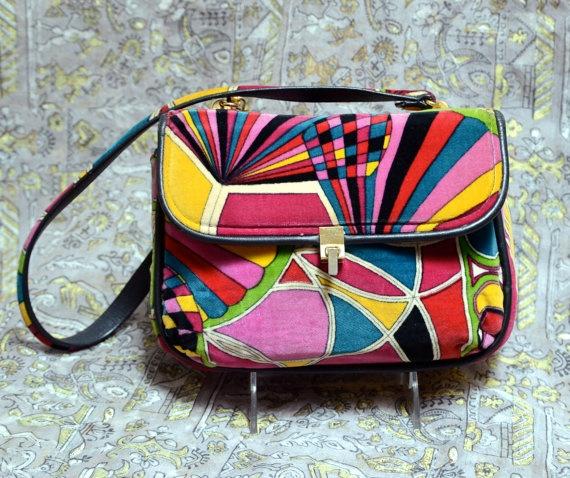 60s PUCCI Velvet Handbag  MOD  Rainbow  by rubyinthedustvintage, $550.00: Pucci Velvet, Mod Rainbows, Pucci Bags, Handbags Mod, Pucci Handbags, Handbags Clint, Awesome Handbags, Velvet Handbags, 1960S Pucci