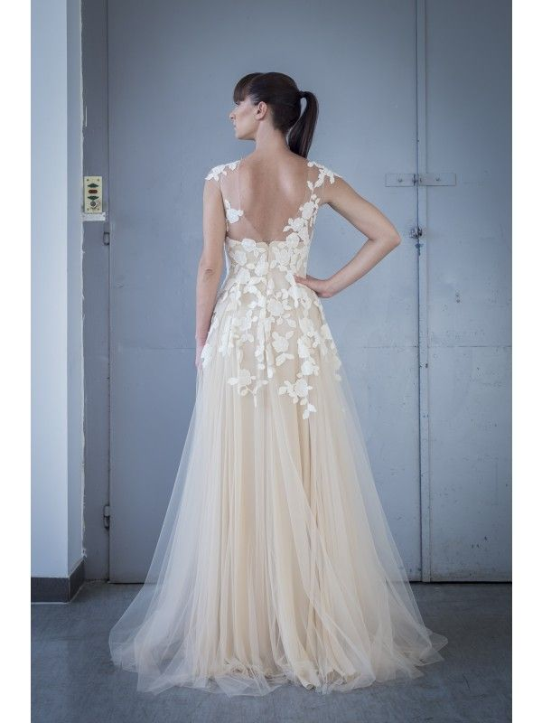 BUTTERFLY LACE EMBRODEIRED DRESS