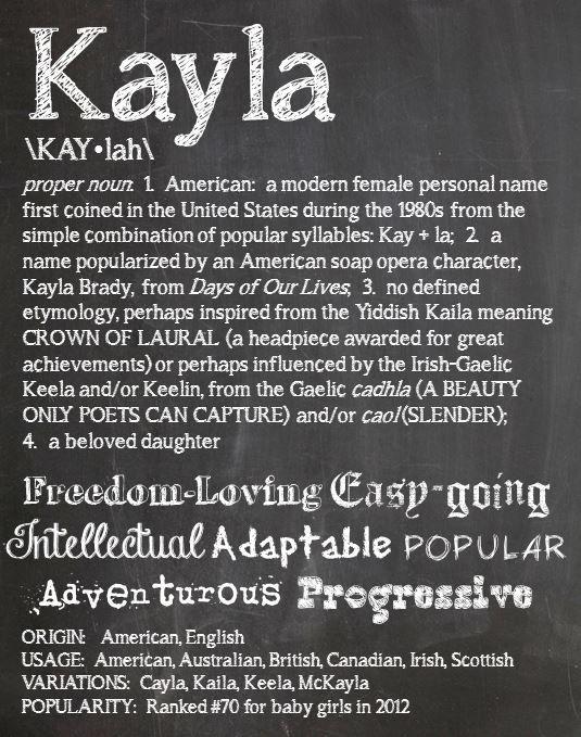 KAYLA Personalized Name Print / Typography Print / by OhBabyNames, $20.00