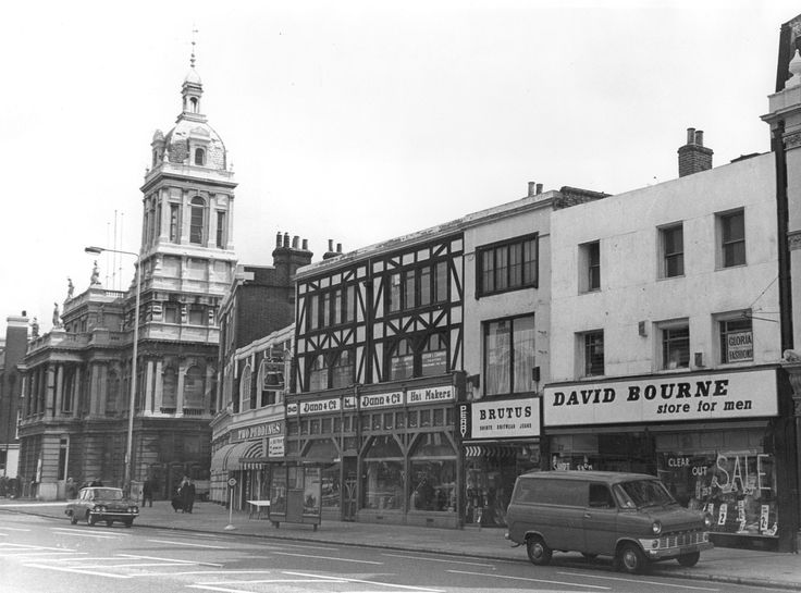 West Ham Town Hall & adjoining buildings. 8 April 1973.