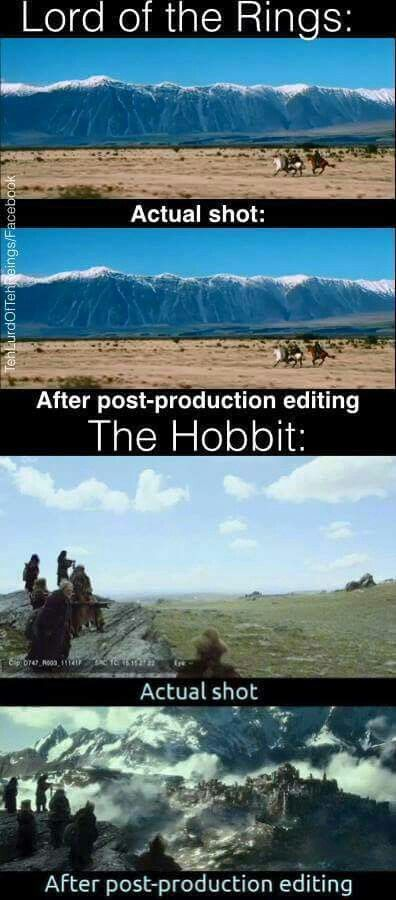 While I loved being taken back to Middle Earth, The Hobbit movies were lacking in a way (this picture makes my point). Yes CGI and other movie making technology has come a long way since the LOTR trilogy, but I missed seeing the actors portraying orcs/nazgul/other creatures. Advanced technology isn't always the answer PJ.......