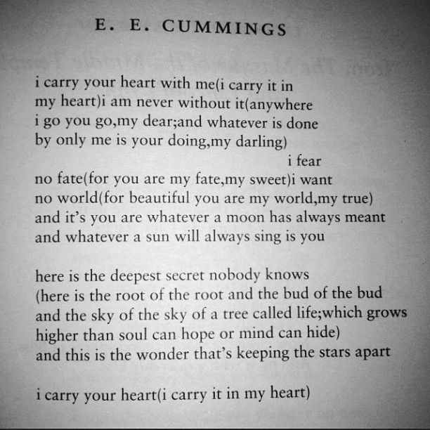 an analysis of the life and poems of ee cummings Edward estlin cummings, known as e e cummings, with the abbreviated form of his name often written by others in lowercase letters as e e cummings (in the style of some of his poems), was an american poet, painter, essayist, author, and playwright.