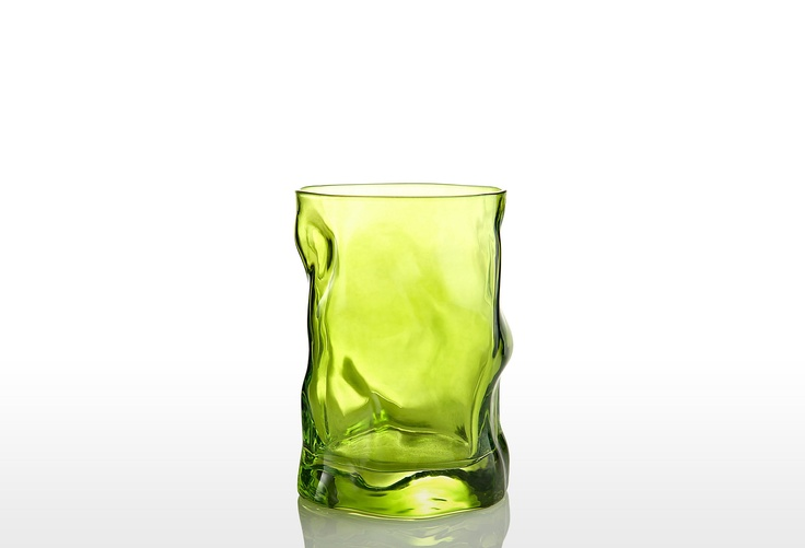 S/4 Sorgente Water Glasses, Lime Green on One Kings Lane today
