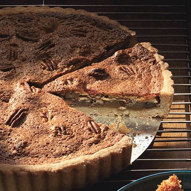 Butterscotch Pecan Tart with Scotch-Spiked Whipped Cream | Recipe