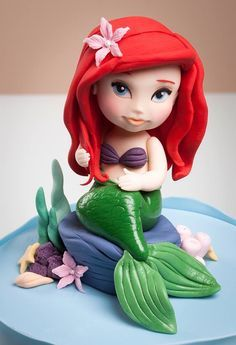 Ariel Little Mermaid Cake Topper by Rouvelee's Creations