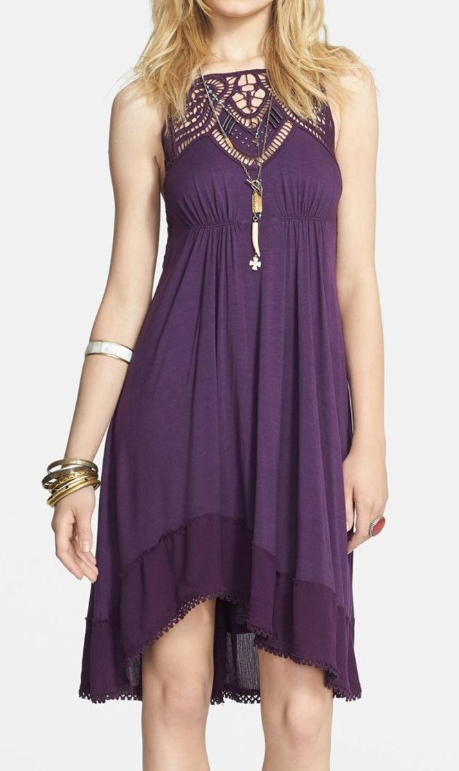 Free People  'Star' Lace Empire Waist Dress #dress #clothing