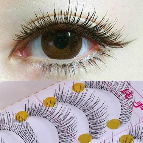 b860f3c40d1 10Pair False Eyelashes Bunches Reusable Natural And Regular Long Eyelashes  Artificial Fake Eye Lashes Makeup Eye Lashes Wimpers