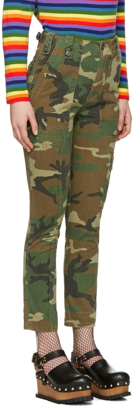 Marc Jacobs - Green Camo Cargo Trousers
