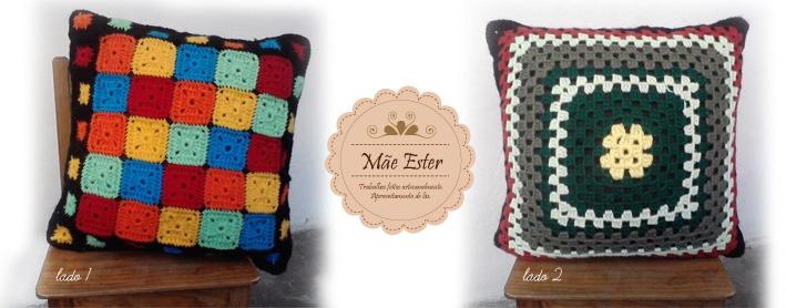 Pillow Crochet wool - handmade