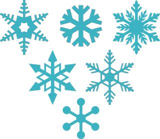 DIGITAL ART by Daniela Angelova: 6 free snowflakes - svg, dxf, studio, files:
