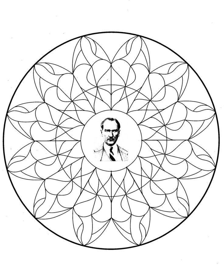 Ataturk Ataturkboyama Boyama 10kasimboyama Mandala Okul Ve
