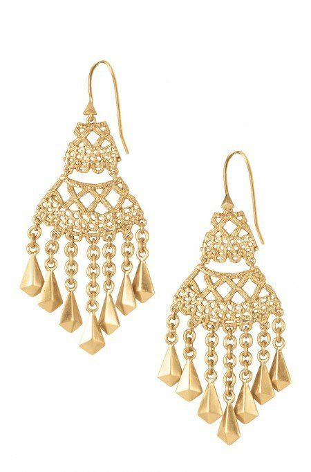 Look vintage in these gorgeous and delicate Ailia Lace Chandelier earrings. Inspired by lace and perfect for any occasion, only by Stella & Dot.