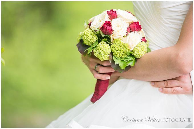 Brautstrauss Rot Weiss Grün  Wedding Bouquet Red White Green ...
