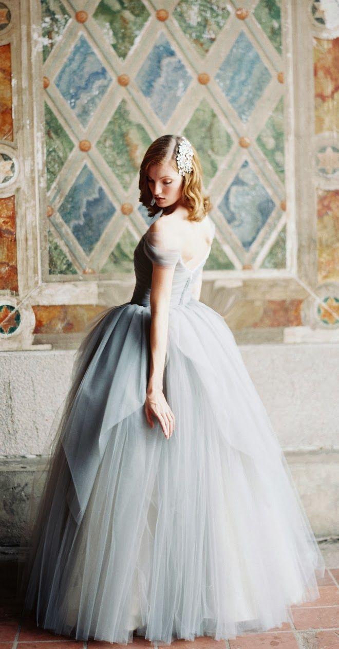 Dusty blue princess ~ Sareh Nouri 2014 Bridal Collection