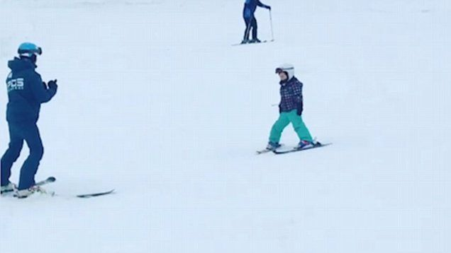 Peter Andre has shared an adorable video of his 4-year-old daughter Amelia skiing.