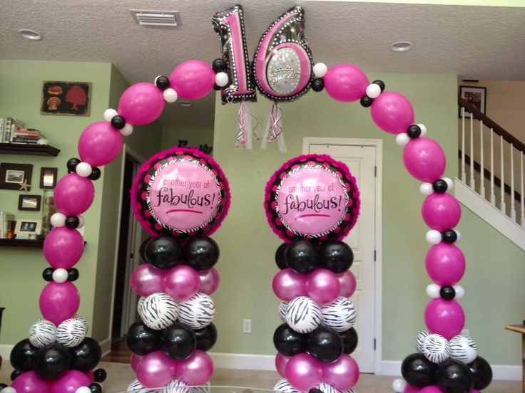 443 best images about 1 balloon decoration on pinterest for Balloon decoration ideas for sweet 16
