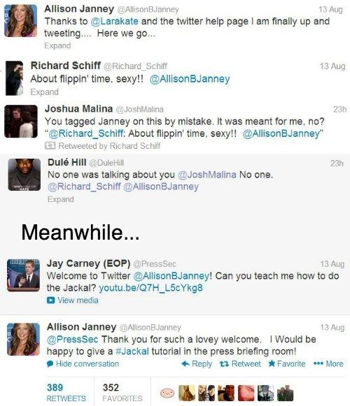 The West Wing Cast: Walk & Tweet. love it :)