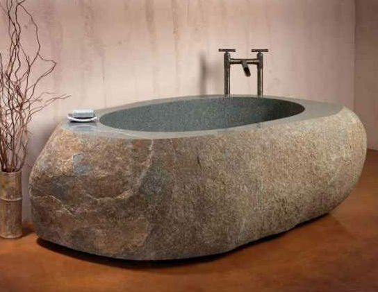 Natural stone bathtub | Natural Stone Decor Ideas