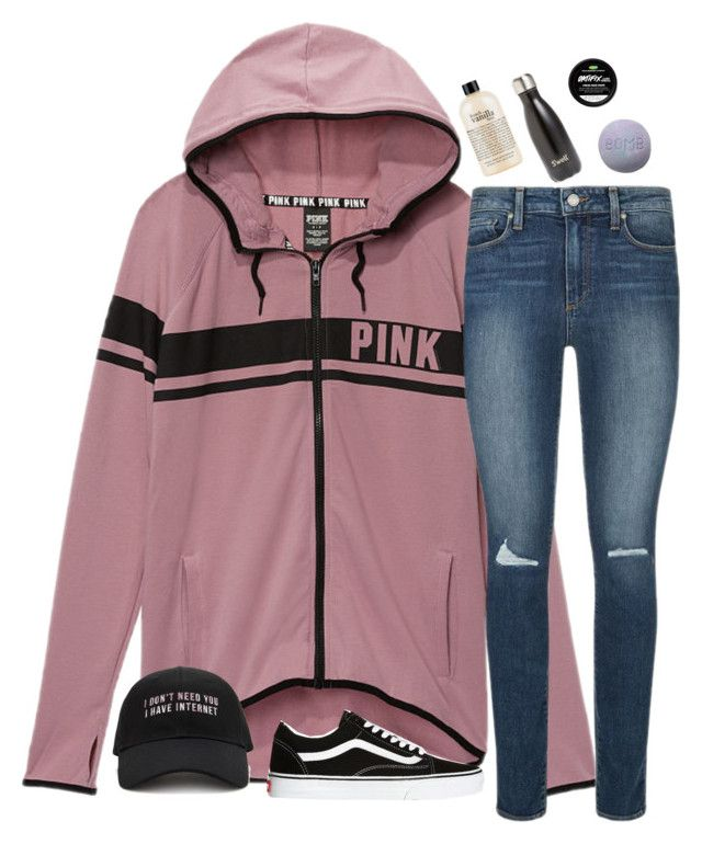 """""""what i got for christmas ( in d )"""" by typical-lizzie ❤ liked on Polyvore featuring Victoria's Secret, Paige Denim, Forever 21, Vans, philosophy and S'well"""