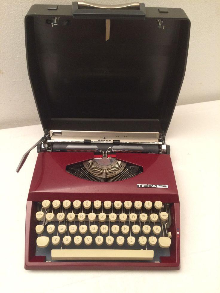 Adler Grundig Tippa S Schreibmaschine Rot Reisegerät