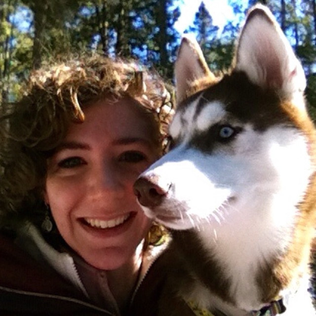 Ikkuma and Me out hiking in Maine!