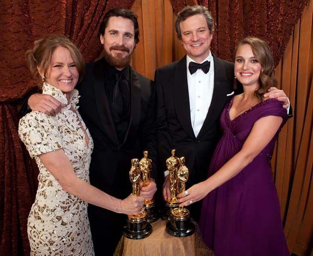 Melissa Leo Christian Bale Colin Firth Natalie Portman-Oscars 2011-Academy Award winners