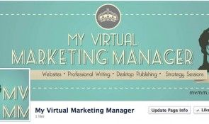 My Virtual Marketing Manager Logo and branding Facebook page