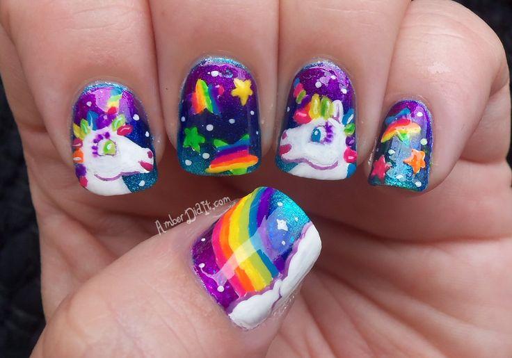 Rainbow Unicorn Nail Art