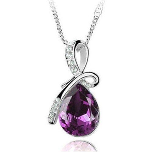Enkelin kyynel -kaulakoru – Violetti  Korun tilaus- ja hintatiedot löytyvät osoitteesta: http://www.samaskoru.fi/tuote/enkelin-kyynel-kaulakoru-violetti/  #korut #kaulakoru #jewelry #necklace #fashion  www.samaskoru.fi