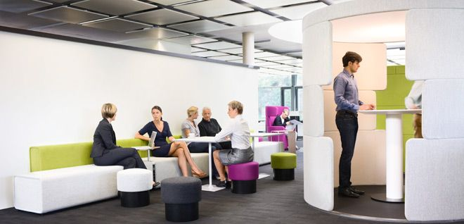 """Bene office furniture.  What I call creating """"idea spaces."""""""