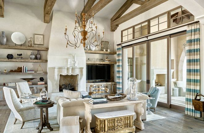 French Living room, French Interiors, The drapery fabric is from Kravet, French Living room, French Interiors, French Living room #FrenchLivingroom #FrenchInteriors PHX Architecture. Kim Scodro Interiors. Werner Segarra Photography.