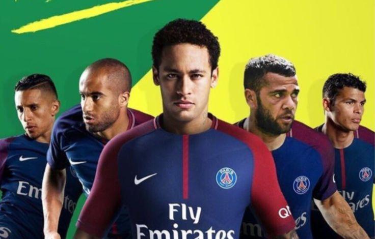 Le montage photo réalisé par le média brésilien Esporte Interativo, à l'origine de l'info Neymar au PSG.