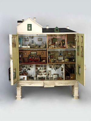 Vintage cabinet syle dollhouse