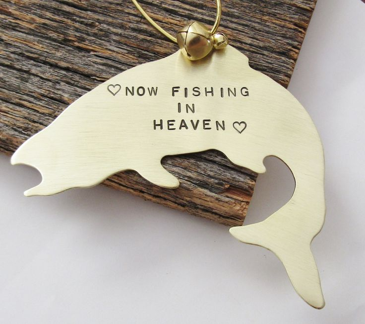 Memorial Ornament Dad Memorial Gift Christmas Bereavement Gift Loving Memory Ornament Brother Condolence Gift Loss of Son Fishing in Heaven by CandTCustomLures on Etsy